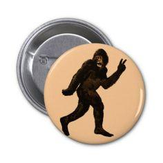 Bigfoot Peace Sign Pins