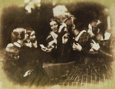 John Henning and Female Audience, 1844. Calotype.