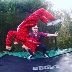 My little dragon flipping #dragon #red #gymnastics #gymnast #trampoline #futurestar #olympicdreams #son #alutius #kanga #upsidedown #jump #trampolinetricks #6yearsold #brother #family #sports #dreams  #goals #fearless #energy #believe  #onesie #backflip
