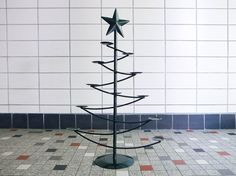 Your place to buy and sell all things handmade Metal Christmas Tree, Green Christmas, Christmas Candle Holders, Tin Metal, Modern Industrial, Welding, Metals, Knives, Diy And Crafts