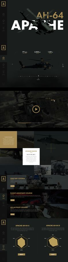 Concept website I made for fun.The AH-64 Apache is the world's most advanced multi-role combat helicopter and is used by the U.S. Army and a growing number of international defense forces. Boeing has delivered more than 2,100 Apaches to customers around…
