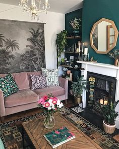 How to use dark green in your living room - Melanie Jade Design - How to . - How to use dark green in your living room – Melanie Jade Design – So ver … # design gre - Living Room Mirrors, Living Room Sets, Home Living Room, Living Room Furniture, Living Room Designs, Wall Mirrors, Living Room Interior, Quirky Living Room Decor Ideas, Green House Furniture