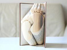 Gastgeschenke - Füßchen ° Gefaltetes Buch - ein Designerstück von KlausUndSo bei DaWanda