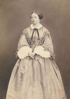 Unknown Person - Princess Alexandrine of Prussia sister of Prince Albert of Prussia (junior) Historical Costume, Historical Clothing, Historical Photos, Female Clothing, German Royal Family, 1850s Fashion, Prince Albert, Royal House, Prussia