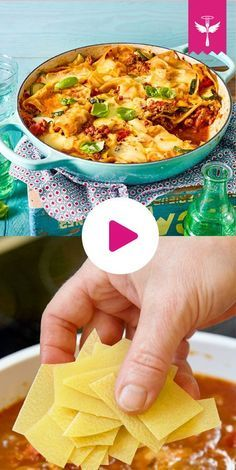 Es ist die ganz, ganz große Lasagne-Liebe! Die #Pasta gart in köstlicher Hackfleischsoße ganz einfach in der Pfanne! #rezept