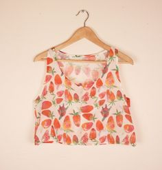 Strawberry Crop Top Made to Order by kindah