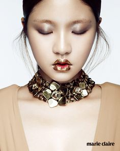 """Yeo Hye Won & Han Kyung Hyun in """"Gold Creation"""" by Kim Young for Marie Claire Korea November 2014"""