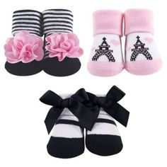 b89f5e1e4a85 Hudson Baby Paris 3-Piece Sock Gift Set Pink