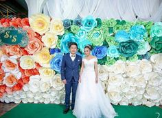 23 best paper flower thailand images on pinterest thailand paper wedding paper flower wall mightylinksfo