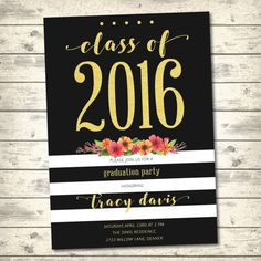 Graduation Party Invitation Graduation by CarlisleConcepts on Etsy