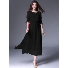 ad73dba8bb Chiffon Frock With Sleeves Tie & Neck Designed - Faash Wear