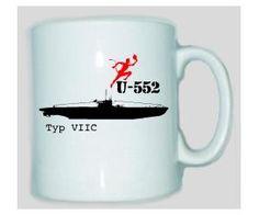 Tasse U-552 / mehr Infos auf: www.Guntia-Militaria-Shop.de