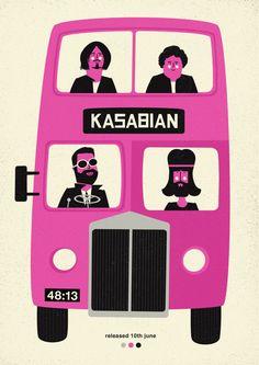 kasabian | sony music poland | poster