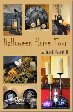 Halloween Home Tour with some fun DIY ideas too!