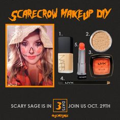 Scarecrow Makeup DIY