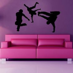 Any B-boys or B-girls out there? Check out these wicked wall stickers! Perfect for a bedroom or studio space!  #wallart #wallstickers #breakdancers #bboy #bgirl #hiphop #bedroom #decor