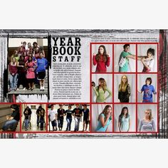 For yearbook staff page layout.  We'll set a date for when to take the photos.