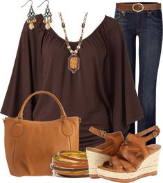 AUTUMN TONE: This outfit would be good for an autumn toned woman because the earth tones and browns would go well with a woman with light golden skin and golden or honey hair. Brown gives a warm and homey feeling.