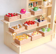 Doll house diy mini furniture model brief display rack showcase all-match