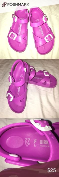 Girls Birkenstock Little girl sz 27 Birkenstock.My daughter has grown out of them they need a new home. Have lots of life left. Worn about three times. Birkenstock Shoes Sandals & Flip Flops