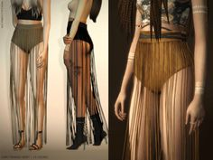 Long Fringed Skirt by magnolia-c for The Sims 4