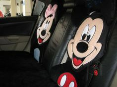Happy Mickey With Minnie Car Seat Covers. It goes for general car with 5 seats.