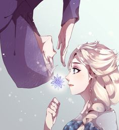 I actually like this image, usually I don't like the Jack/Elsa pairing. But this is too cute not to dislike.