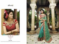 Blue Net & Crepe Georgette Sarees Online India