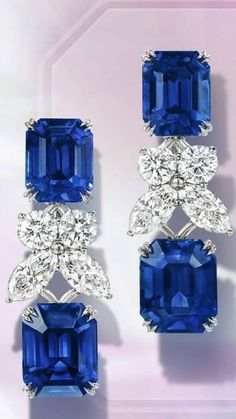 Ruby Jewelry, Gems Jewelry, High Jewelry, Jewelry Accessories, Jewelry Design, Green Emerald Ring, Sapphire Earrings, Royal Jewels, Diamond Are A Girls Best Friend
