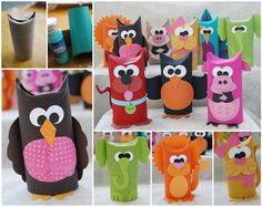 Toilet Paper Roll Crafts for Kids Kids Crafts, Projects For Kids, Diy For Kids, Diy And Crafts, Craft Projects, Arts And Crafts, Recycled Crafts, Toilet Tube, Toilet Roll Craft