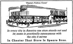 Okay, the ad it way before my time, but we shopped in this store when i was a child. Delaware County, Delaware River, Department Store, Chester, Old Houses, No Time For Me, Pennsylvania, Growing Up, Photos