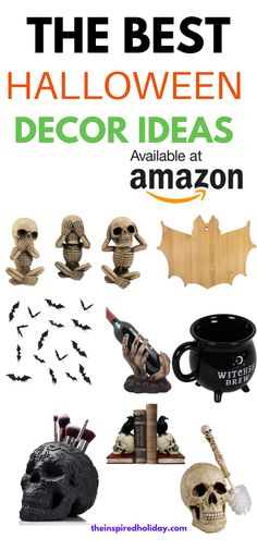 Decorate your home for Halloween with these spooky decor pieces from Amazon. Halloween home decor is so much to search for each year and here are some of the best Halloween decor finds on Amazon. Help turn your house into a not so spooky Haunted Mansion with these great Halloween decorations. Halloween This Year, Cute Halloween Costumes, Halloween Home Decor, Halloween Activities, Halloween 2019, Halloween House, Halloween Crafts, Halloween Decorations, Traditions To Start