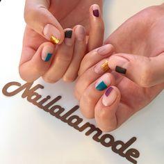 Cute minimalist negative space nail art idea #nailart #minimalist