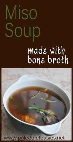 This miso soup is ready in minutes. Paleo Recipes, Real Food Recipes, Soup Recipes, Cooking Recipes, Gluten Free Soup, Paleo Soup, Paleo On The Go, Gaps Diet, Miso Soup