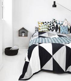 Интерьер спальни в скандинавском стиле-11