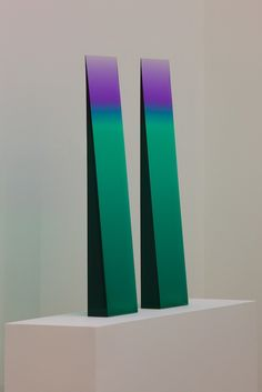 Tri-Color Gradient Window Wedge  Cast Polyester Resin  30 x 8 x 4   2012  Eric Cahan