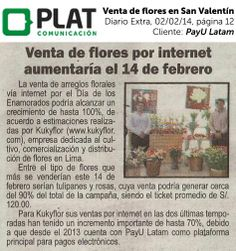 PayU Latam: Venta de flores por San Valentín en el diario Extra de Perú (02/02/14)