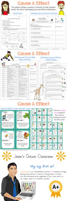 Cause and effect bundle with a variety of activities! $