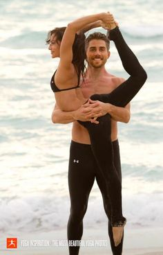 Partner poses on pinterest partner yoga partner yoga for Haute 8 yoga manhattan beach