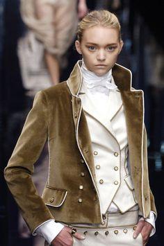 Dolce & Gabbana. love the piping on this velvet beauty.