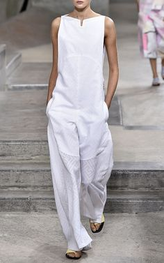 185bc43f875d This White Maze Poplin Jacquard Jumpsuit by Kenzo is available for Preorder  on Moda Operandi White