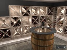 projects - Cavilux, manufacturer of custom wine cellars- Projets – Cavilux, fabricant de cave à vin sur mesure projects – Cavilux, manufacturer of custom wine cellars - Design Your Dream House, House Design, Cave A Vin Design, Home Wine Cellars, Wine Cellar Design, Wine House, Wine Storage, Basement Remodeling, New Homes