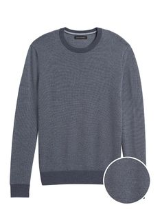 X-Future Mens Christmas Print Slim Long Sleeve Crewneck Pullover Knitted Sweater