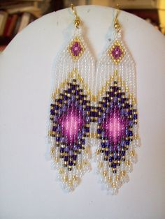 Native American Beaded Pink and Purple by BeadedCreationsetc, $16.50