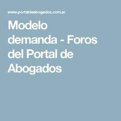 Modelo demanda-Foros del Portal de Abogados
