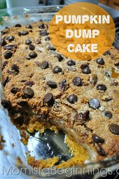 Pumpkin Dump Cake recipe | Momista Beginnings
