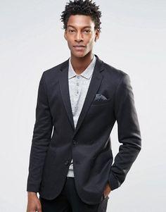 d1765373d9b8 ASOS Super Skinny Blazer in Jersey in Black Blazer Jacket