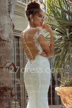 Newest short sleeves A-Line lace wedding dress short sleeves  with button back bridal gowns