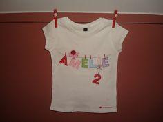 T-Shirts - Geburtstagsshirt mit Namen an der Wäscheleine - ein Designerstück von naehdesigns bei DaWanda