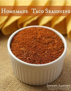 Taco seasoning is one of those things that is used all the time, but do you really know what's in it?  Seasoning packets add a lot of extra salt, empty calories, and mystery ingredients. When ...